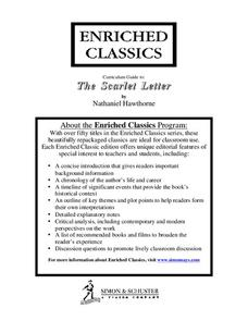 curriculum guide the scarlet letter 11th 12th grade unit lesson planet. Black Bedroom Furniture Sets. Home Design Ideas