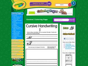 Cursive Handwriting: I Worksheet