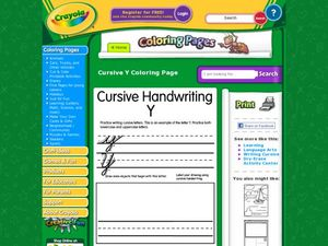 Cursive Handwriting Yy Worksheet