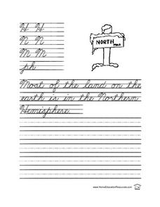 Cursive Practice- Sentence Writing Lesson Plan