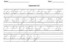 Cursive Uppercase A-Z Worksheet