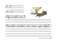 Cursive Writing Practice- F and m Lesson Plan