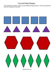 cut and paste shapes pre k 2nd grade worksheet lesson planet. Black Bedroom Furniture Sets. Home Design Ideas