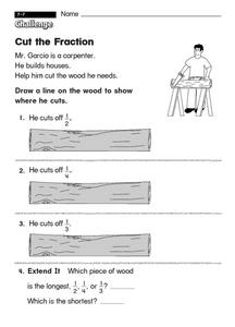 Cut the Fraction Worksheet