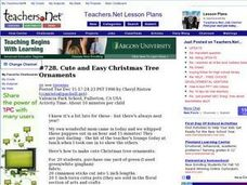 Cute and Easy Christmas Tree Ornaments (Elementary, Art) Lesson Plan