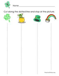 Cutting Dotted Lines Lesson Plan