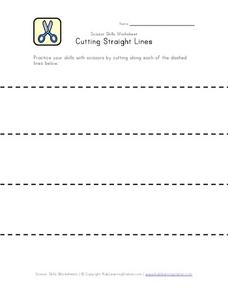 Cutting Straight Lines Worksheet