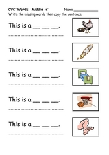 math worksheet : words with e for kindergarten  k5 worksheets : Kindergarten Cvc Worksheets