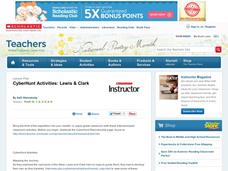 Cyber Hunt Activities: Lewis & Clark Lesson Plan