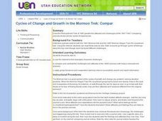 Cycles of Change and Growth in the Mormon Trek: Compar Lesson Plan