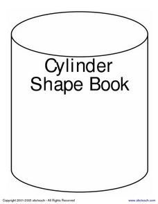 Cylinder Shape Book Worksheet