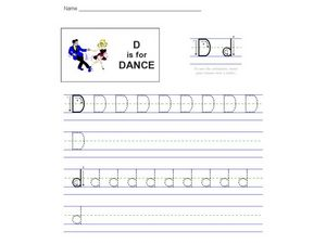 D is for Dance: The Letter D Worksheet