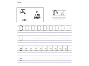 D is For Drip: The Letter D Worksheet