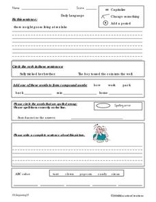 Daily Writing 9 Worksheet