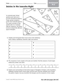 Daisies in the Isosceles Right: Enrichment Worksheet