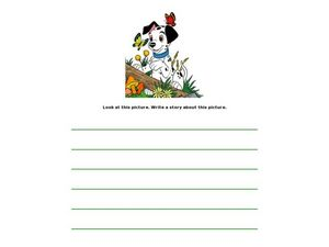 Dalmatian Picture Writing Prompt and Stationary Worksheet