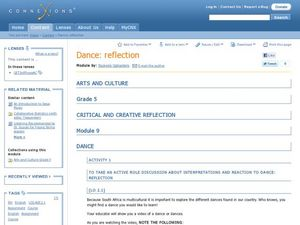 Dance: Reflection Lesson Plan