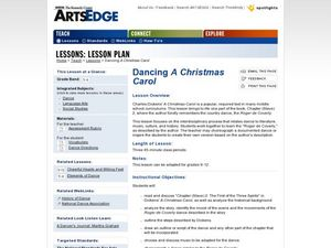 Dancing A Christmas Carol Worksheet
