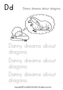 Danny Dreams About Dragons Worksheet