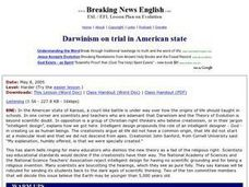 Darwinism on Trial in American State Worksheet