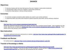 DASHES Lesson Plan