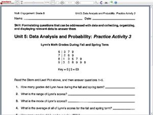 Worksheets Analyzing Data Worksheet data analysis worksheets and resources singapore math common core state standards initiative