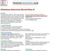 Database Detectives Record Clues Lesson Plan