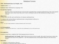 Database Lesson Lesson Plan