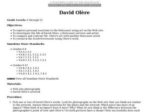 David Olere Lesson Plan
