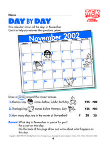 Day by Day Lesson Plan
