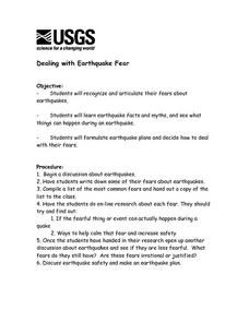 Dealing With Earthquake Fear Lesson Plan