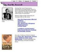 Dear Mrs. Roosevelt--Letters from Children Lesson Plan