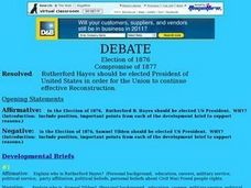 Debate - Election of 1876 Lesson Plan