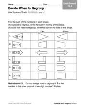 Decide When to Regroup Worksheet