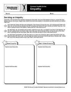 Deciding on Empathy Worksheet