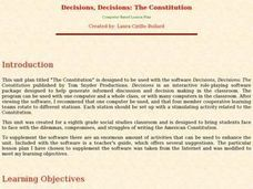 Decisions, Decisions: The Constitution Lesson Plan