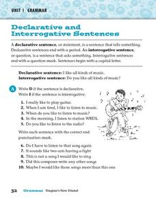Printables Declarative And Interrogative Sentences Worksheets 4th Grade declarative and interrogative sentences 2nd 3rd grade worksheet worksheet