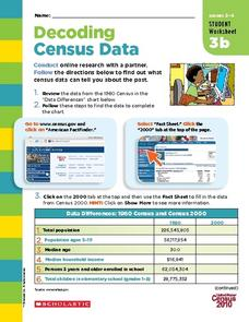 Decoding Census Data Worksheet