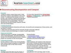 Deconstructing, Decomposition and Compost Lesson Plan