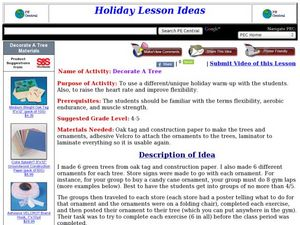 Decorate A Tree Lesson Plan