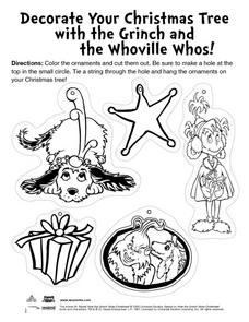 Decorate Your Christmas Tree With The Grinch and the Whoville Whos! Lesson Plan