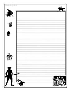 Decorated Writing Paper-- American Symbols Printables & Template