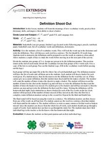 Definition Shoot Out Lesson Plan