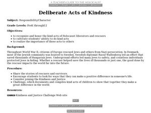 Deliberate Acts of Kindness Lesson Plan