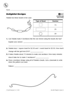 Delightful Designs Worksheet