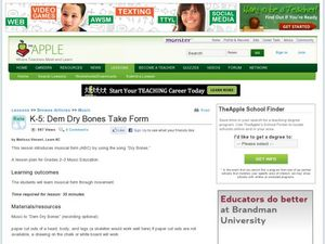 Dem Dry Bones Take Form Lesson Plan