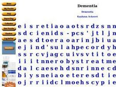 Dementia Worksheet