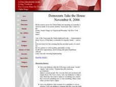 Democrats Take the House Lesson Plan