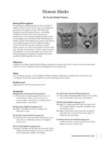 Demon Masks Lesson Plan