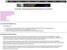 Demonstrating the Distances of Stars Lesson Plan